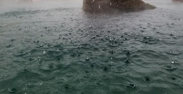 Water at the pool at Chena Hot Springs Resort
