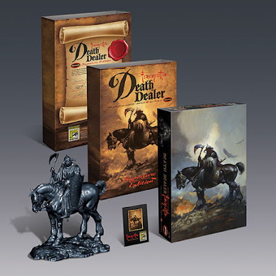 San Diego Comic-Con 2017 Exclusive Frank Frazetta's Death Dealer Lapel Pin Set by Moebius Models