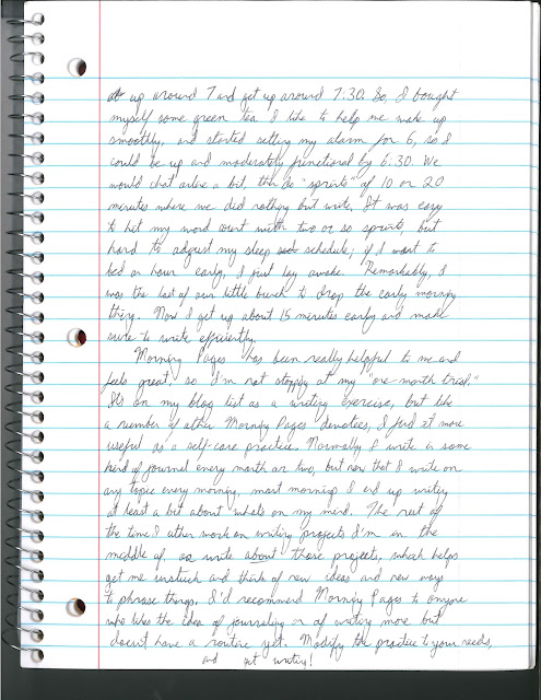 Images are of hand-written pages containing the blog text. To access the text typed out, use the link at the top of this post.