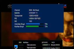 Frekuensi KLIK MUSIC Terbaru di Chinasat 11 (Kuband) 98.5°E