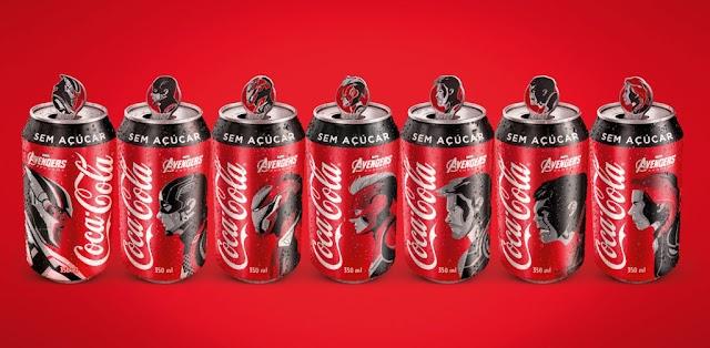 Coca-Cola transforma lacres de suas latas em pins colecionáveis de Vingadores: Ultimato
