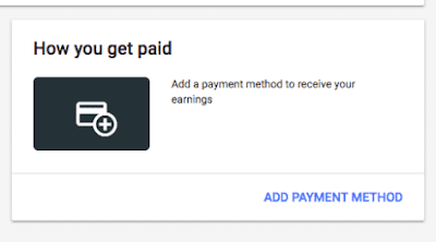 How to add payment method in google adsense