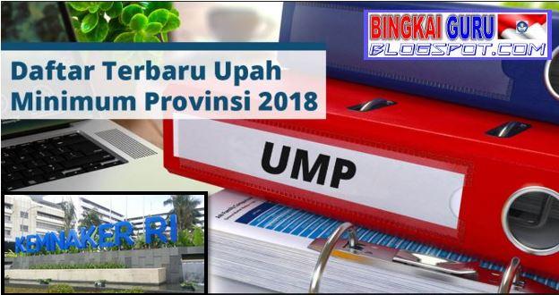 Inilah Daftar Upah Minimum Provinsi di Seluruh Provinsi yang ada di Indonesia Tahun 2018