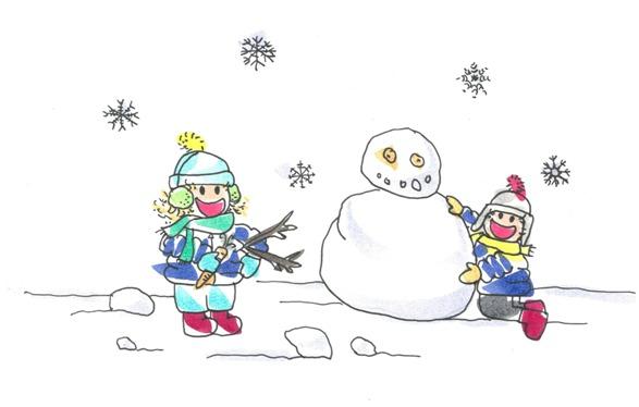Excursión de Tina y Leo a la nieve
