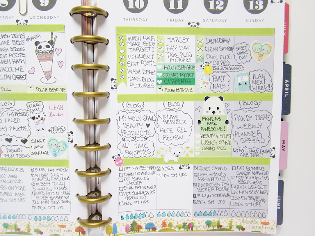 Panda Bear Cafe Planner Spread