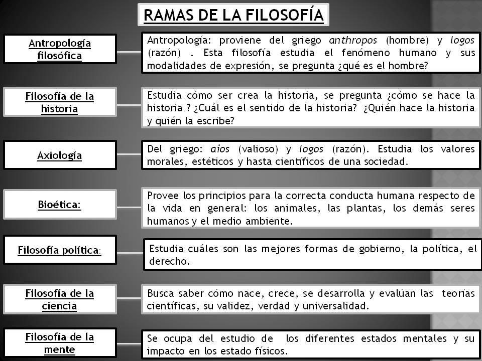 Apoyo Académico Filosofía Clase 2 Ramas De La Filosofía