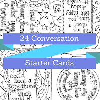Conversation starter card set