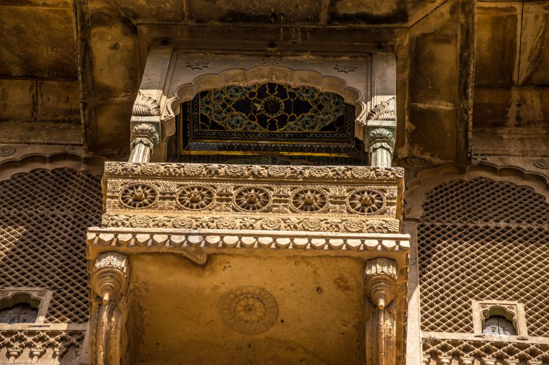 Beautiful Balcony at Raja Ka Mahal - Jaisalmer Fort Jaisalmer