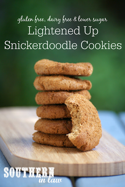 Gluten Free Snickerdoodle Cookies Recipe - healthy, low fat, low sugar, gluten free, clean eating recipes, dairy free, refined sugar free