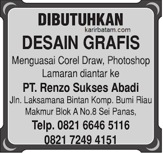 Lowongan Kerja PT. Renzo Sukses Abadi