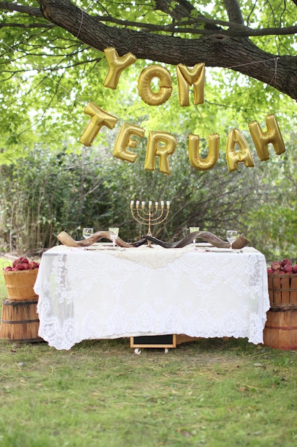 Apples and lace Yom Teruah party | Land of Honey
