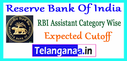 RBI Reserve Bank Of India Assistant Prelims Sectional Category Wise Expected Cut Off Marks 2017