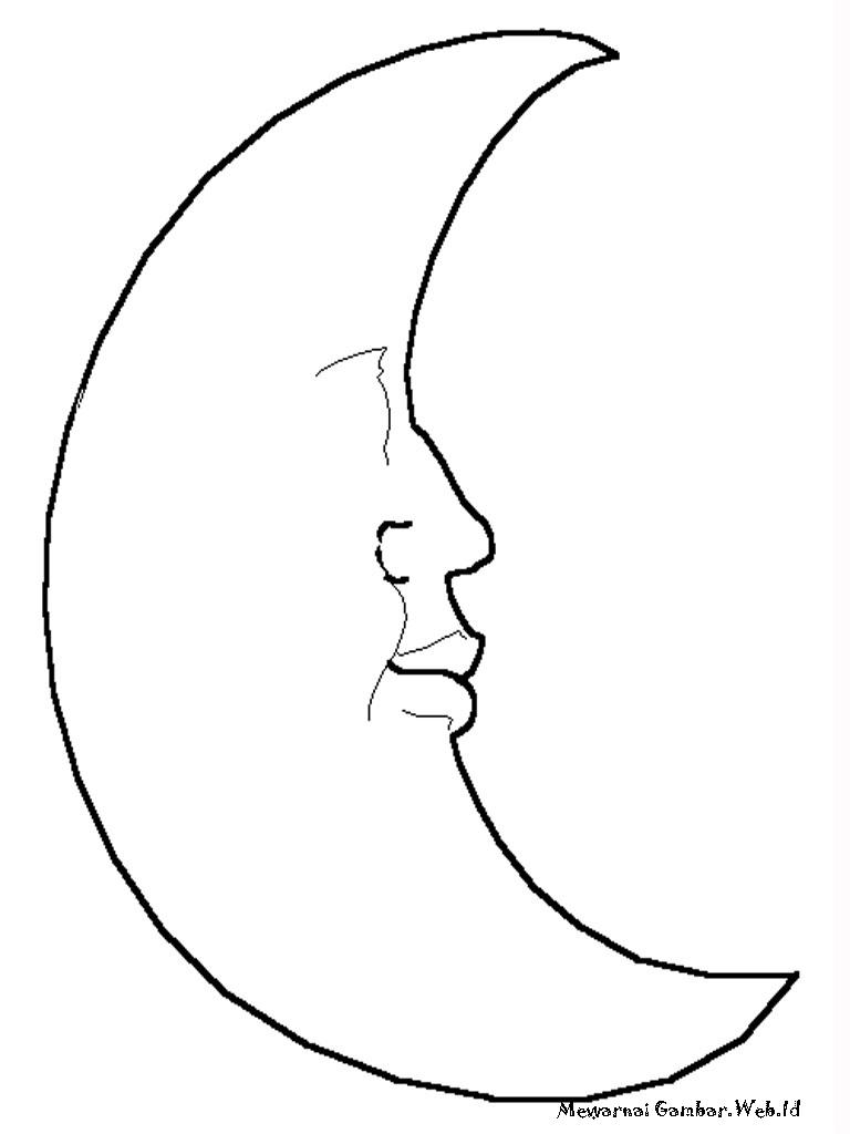 gambar bulan sabit kartun  Pemandanganoce