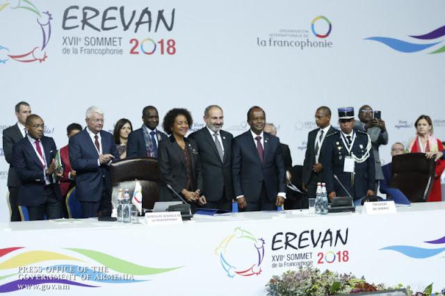 Cumbre de la francofonia termina en Ereván