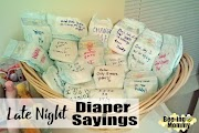 Late Night Diaper Sayings for your next Baby Shower