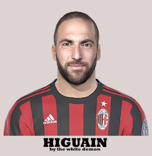 PES 2019 Faces Gonzalo Higuain by The White Demon