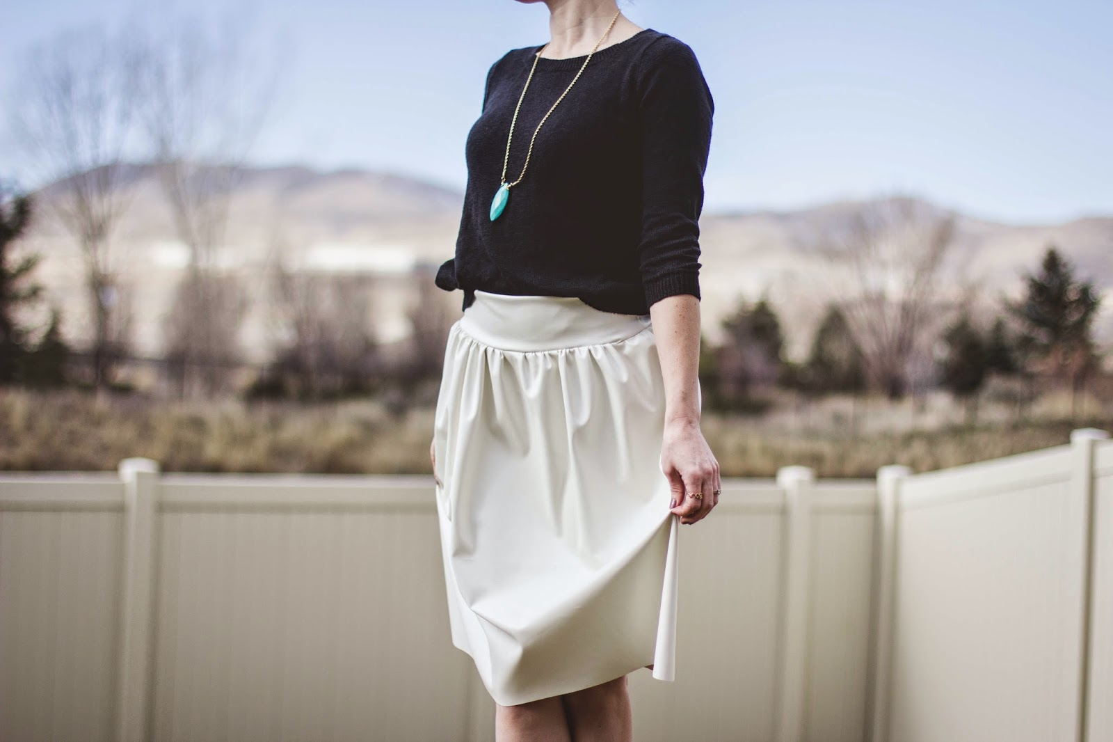 DIY Leather Skirt