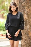 Actress Hebah Patel Stills in Black Mini Dress at Angel Movie Teaser Launch  0111.JPG