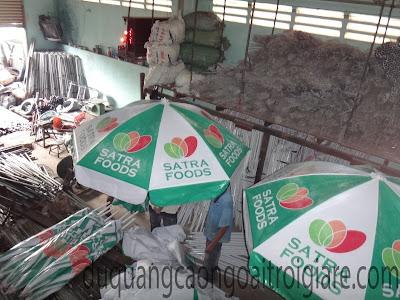 Dù quảng cáo siêu thị Satra Foods