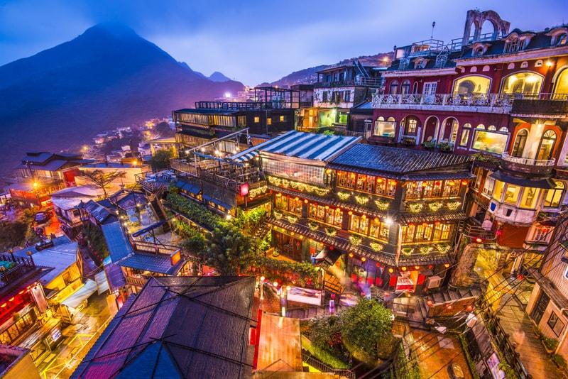 Một góc Đài Loan về đêm