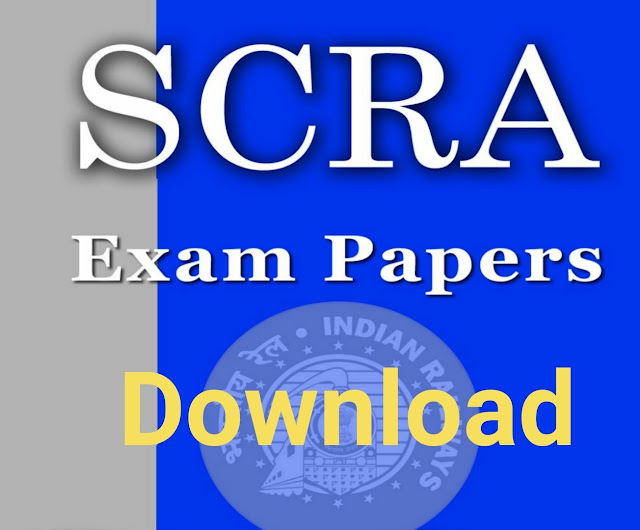 RRB Railway UPSC Special Class Railway Apprentices (SCRA) last Previous Year Exam Papers