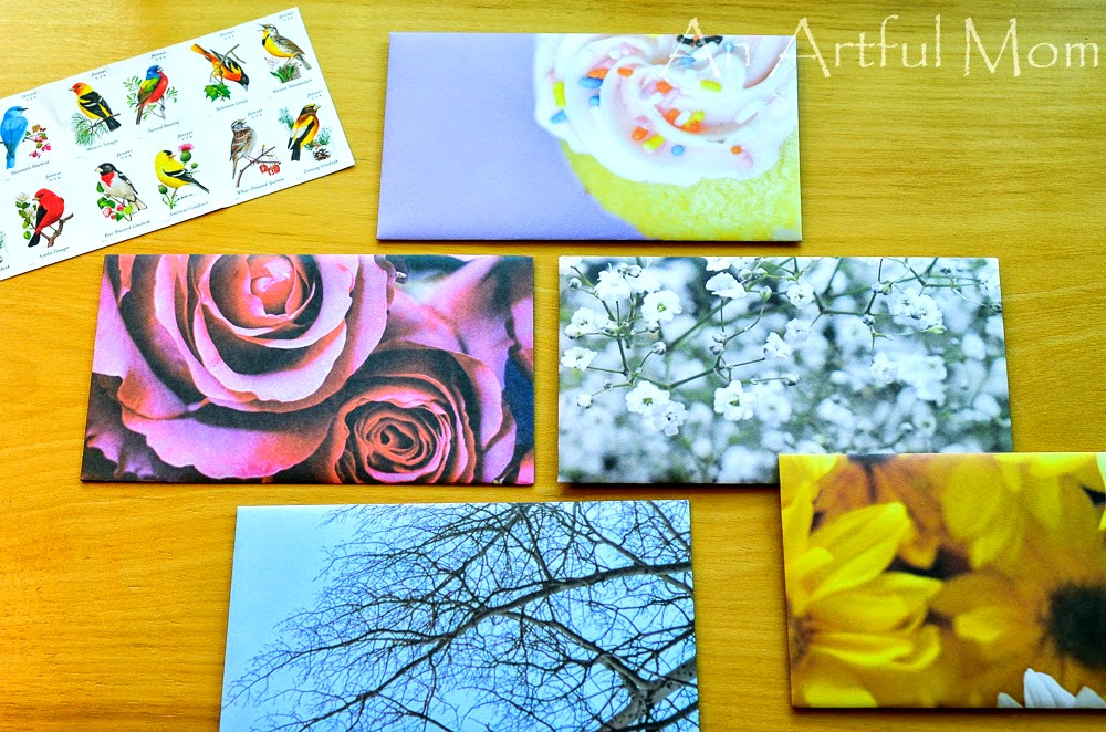 How to make your own envelopes from magazines,calendars,scrapbook paper