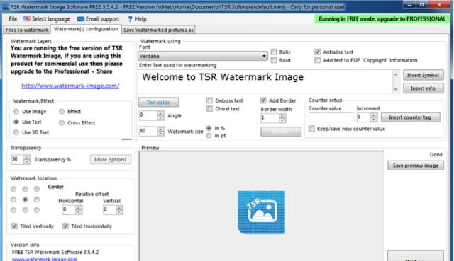 تحميل برنامج اضافة علامة مائية للصور Watermark Image للكمبيوتر مجانا