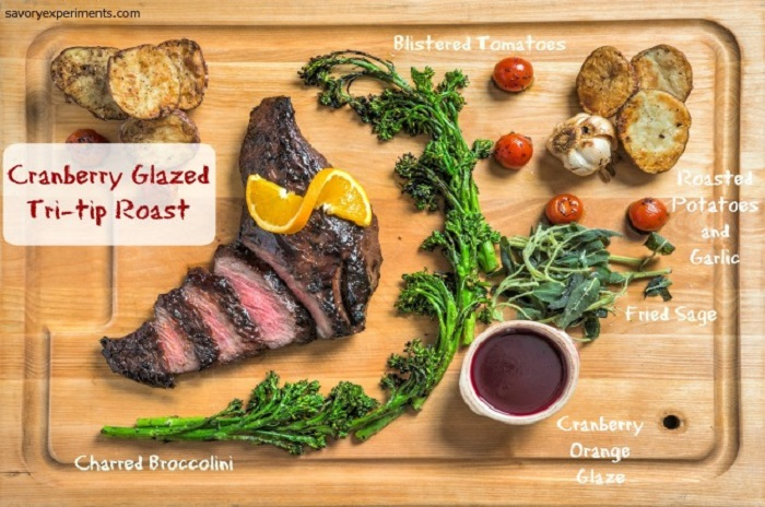 Cranberry Glazed Tri-Tip Roast