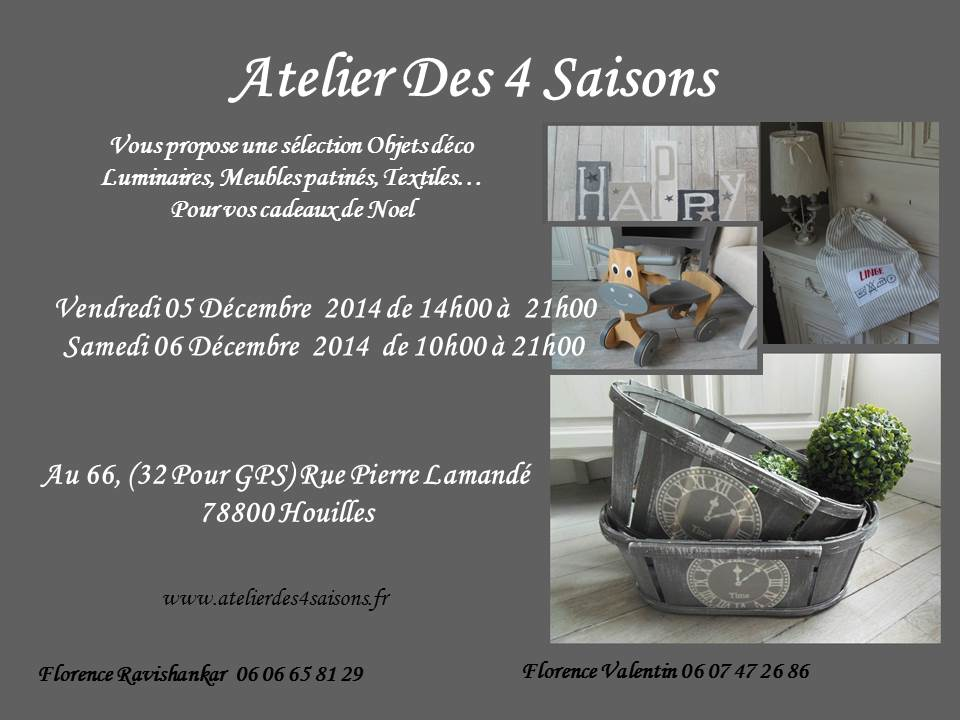 paris l 39 ouest atelier des 4 saisons vente meubles. Black Bedroom Furniture Sets. Home Design Ideas