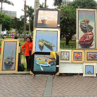 Paseo de los Pintores, no Parque Kennedy, em Miraflores, Lima