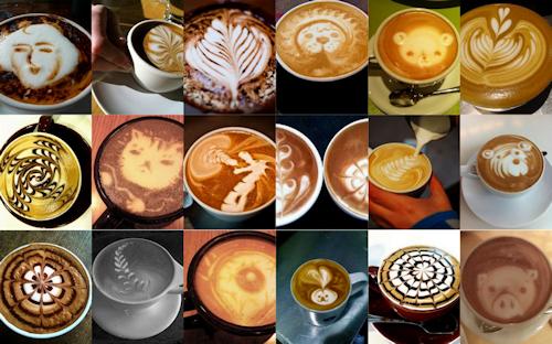 BANCO DE IMÁGENES: Figuras Creativas En Tazas De Café