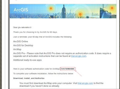 Letter - 2 - Esri - Your Free ArcGIS Trial code