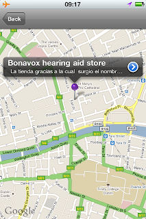 U2fanlife APP para iphone con mapa de Dublin -  Google Maps