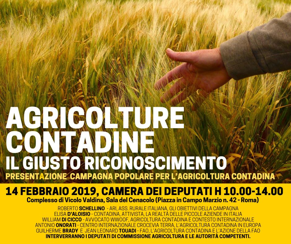 La rete delle reti roma 14 febbraio 2019 agricoltura for Ieri alla camera dei deputati