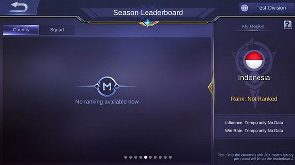 leaderboard conquest of dawn mobile legend