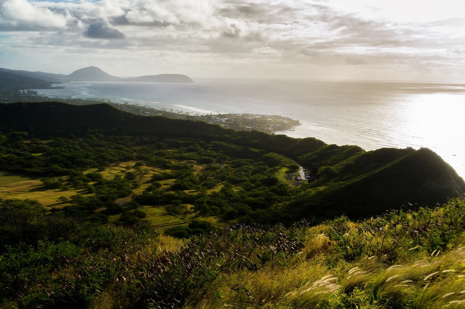 View from Diamond Head Crater Hike in Hawaii