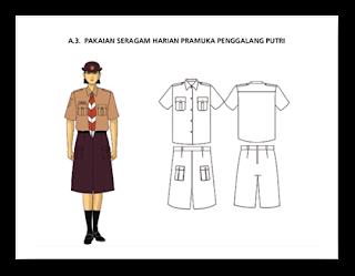 Pakaian Harian Seragam Pramuka Penggalang Putri