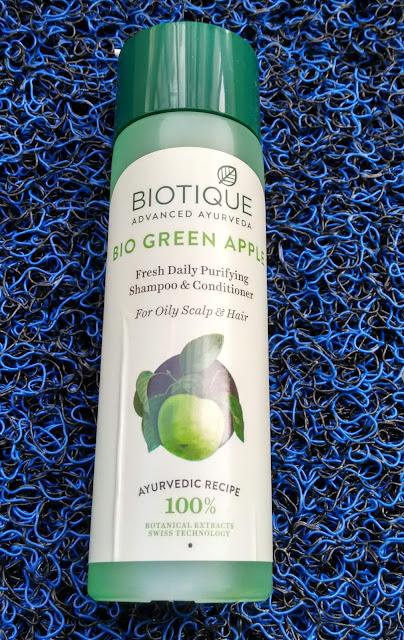 Biotique Advanced Ayurveda Bio Green Apple Fresh Daily Purifying Shampoo And Conditioner