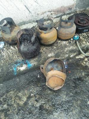 Gara-Gara Gas Bocor Kontrakan di Telagasari Terbakar