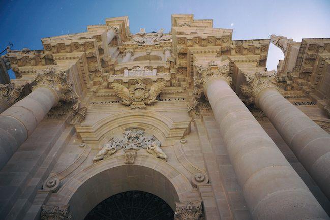 バロック建築のシラクーサのドゥオモ