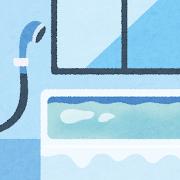 浴室のイラスト(室内風景)