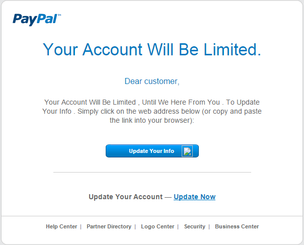 Letters PayPal Undetected