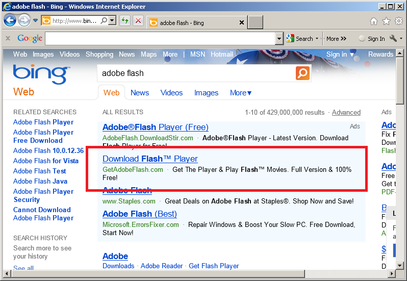 The continuation of dangerous rogue ads on Bing (and Yahoo) | The