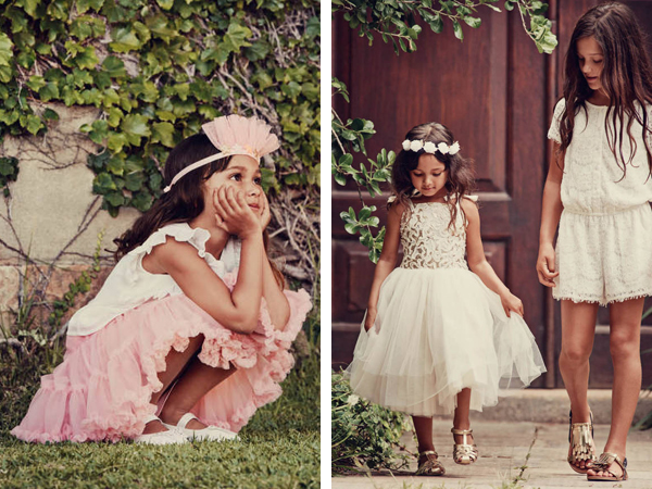 vestidos para niñas primavera verano 2016 H&M eventos