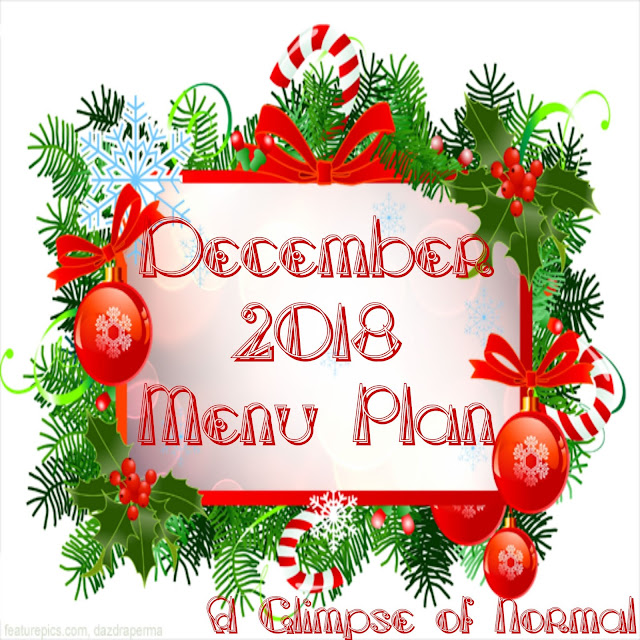 December is a busy month.  Don't get caught without a menu plan for dinner!  If you are looking for a practical menu plan, check out my December 2018 Menu Plan.