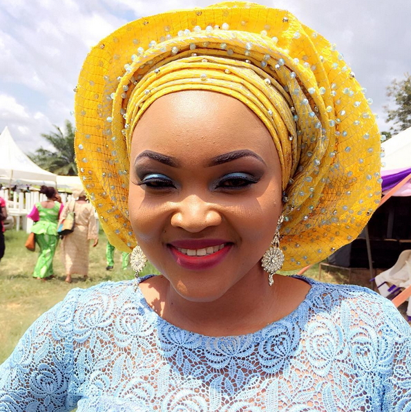 mercy aigbe father burial