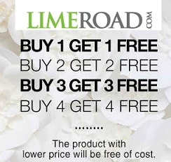Buy 1 Get 1 Free Offer on Women's Clothing, Accessories, Home Decor Products @ Limeroad