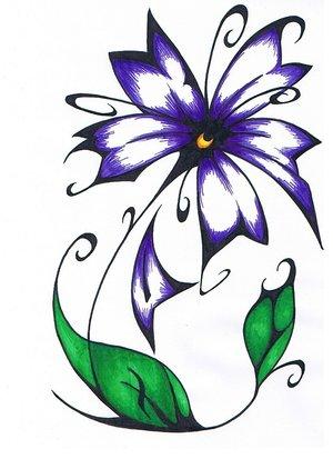 Publish PostSimple Tribal Flower Tattoos