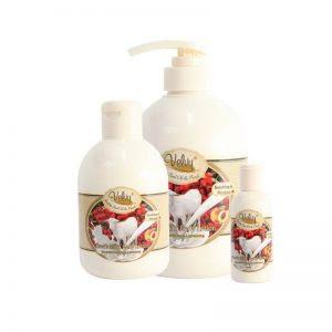Velvy Goat's Milk Shower Cream Rosehip Seed Oil & Peach