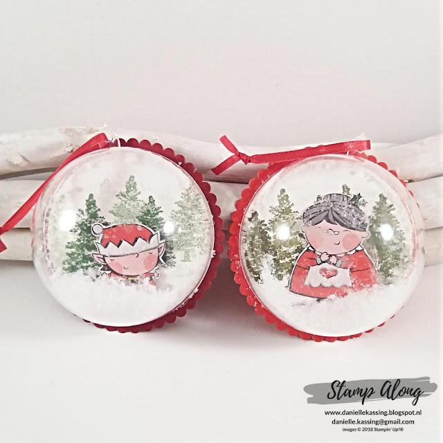 Stampin' Up! Kerstabal met Santa's worskhop dsp